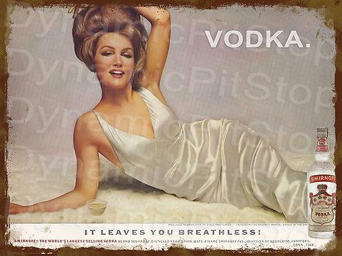 40x30cm Smirnoff Vodka Rustic Decal or Tin Sign