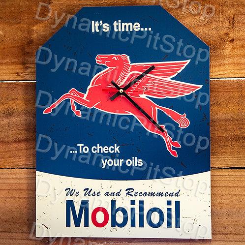30cm x 40cm Mobil Oil Rustic Clock