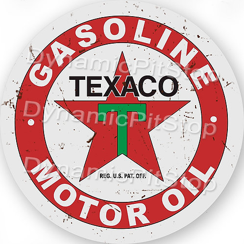 60cm Texaco Logo Round Tin Sign