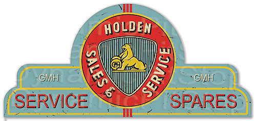 65x30cm Holden Service Spares Shield Tin Sign