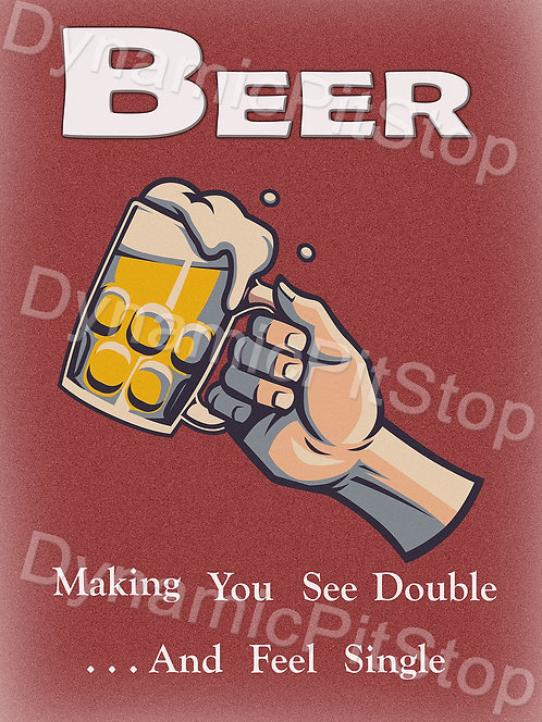 30x40cm Beer See Double Rustic Decal or Tin Sign