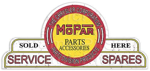 65x30cm Mopar Service Spares Shield Tin Sign