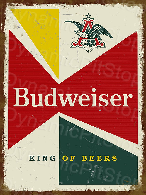 30x40cm Budweiser Beer Rustic Decal or Tin Sign