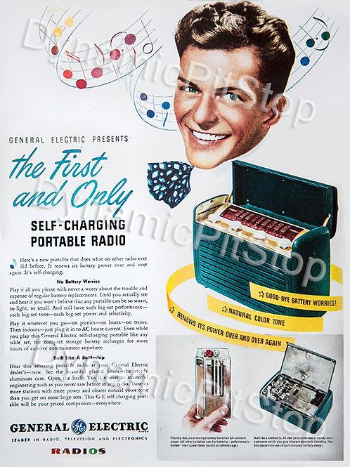 30x40cm GE Portable Radio Decal or Tin Sign