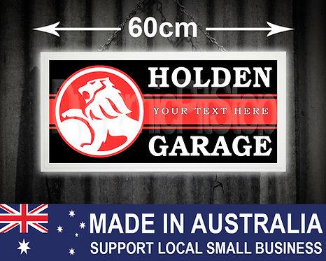 Illuminated Holden Custom Garage Sign