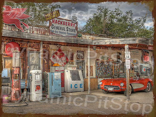 40x30cm Gas & General Store Rustic Decal or Tin Sign