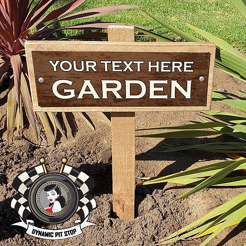 Custom Garden Sign - Rustic