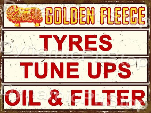 40x30cm Golden Fleece Services Rustic Decal or Tin Sign