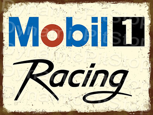 40x30cm Mobile 1 Racing Rustic Decal or Tin Sign