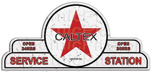 65x30cm Caltex Service Station Shield Tin Sign