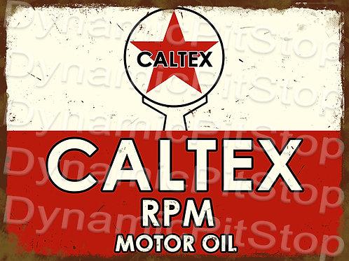 40x30cm Caltex Logo Motor Oil Rustic Decal or Tin Sign