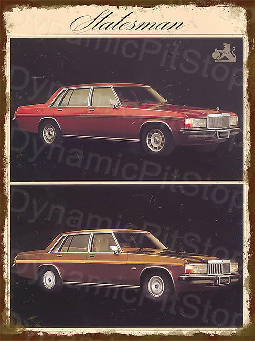 30x40cm Holden 1980 Statesman Rustic Decal or Tin Sign