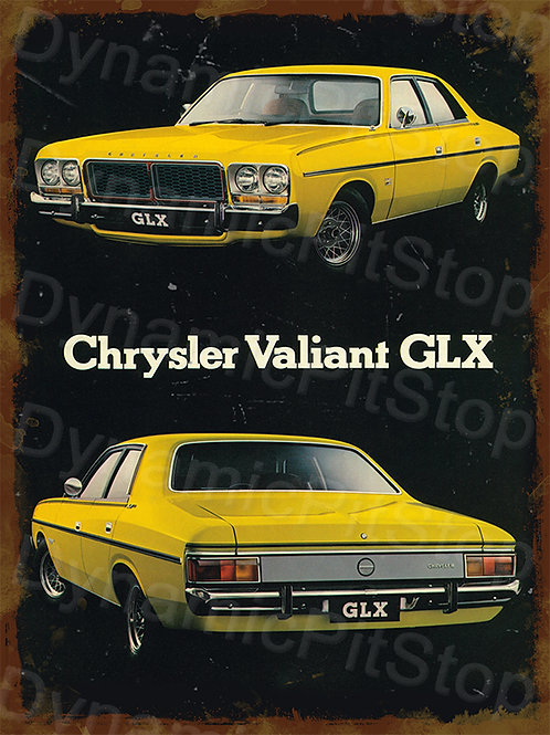30x40cm Valiant GLX Rustic Decal or Tin Sign