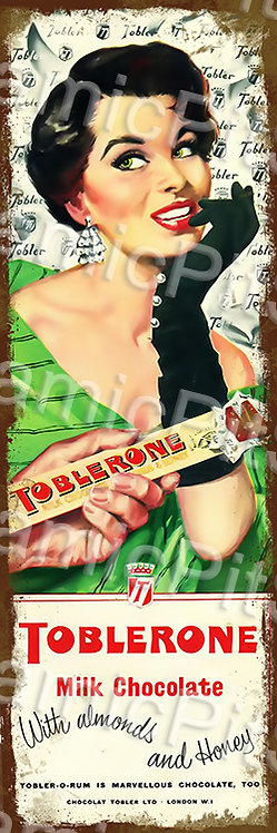 20x60cm Toblerone Chocolate Rustic Decal or Tin Sign