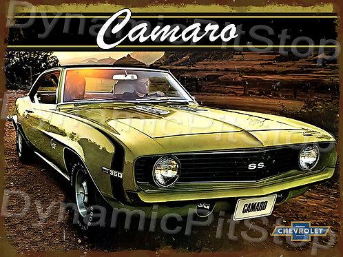 40x30cm Camaro 1969 Rustic Decal or Tin Sign