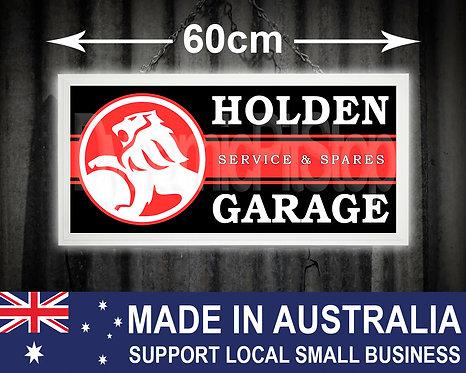 Illuminated Holden Garage Sign