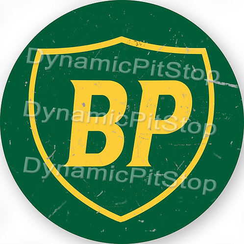 60cm BP Logo Round Tin Sign