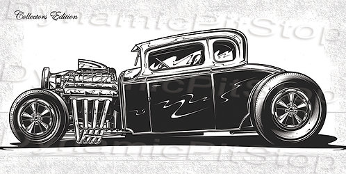60x30cm Hot Rod Collectors Edition #4 Decal or Tin Sign