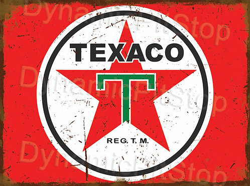 40x30cm Texaco Logo Rustic Decal or Tin Sign