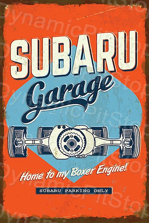 20x30cm Subaru Garage Rustic Decal or Tin Sign