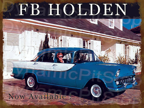 40x30cm Holden 1960 FB Sedan Rustic Decal or Tin Sign