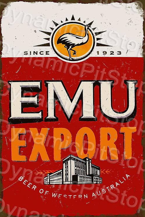 40x60cm Emu Export Rustic Decal or Tin Sign