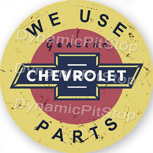 60cm Chevrolet Parts Round Tin Sign