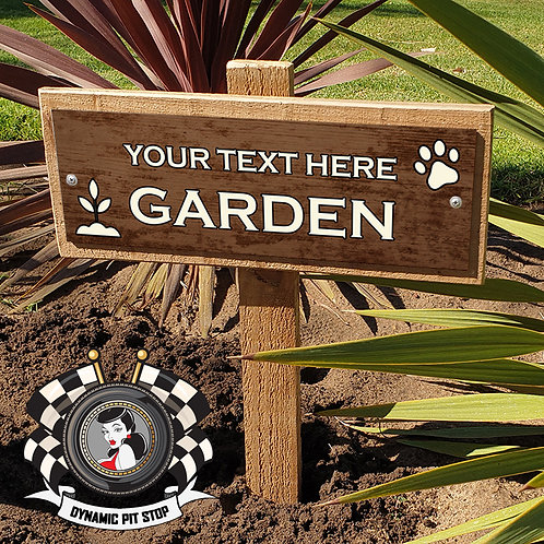 Custom Garden Sign - Rustic Paw