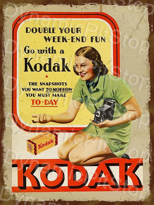30x40cm Kodak Rustic Decal or Tin Sign
