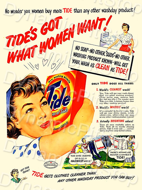 30x40cm Tide Washing Powder Decal or Tin Sign