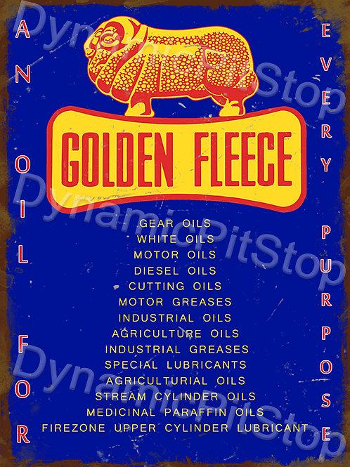 30x40cm Golden Fleece Oils Rustic Decal or Tin Sign