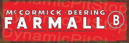 60x20cm McCormick Deering Rustic Decal or Tin Sign