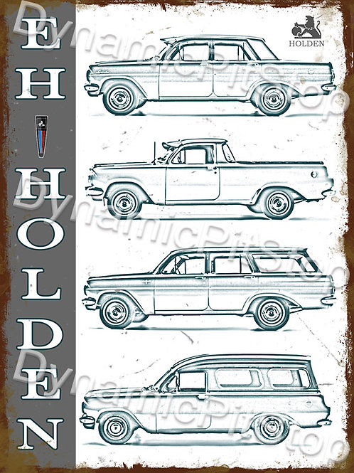 30x40cm Holden EH Rustic Decal or Tin Sign