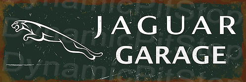 60x20cm Jaguar Garage Rustic Decal or Tin Sign