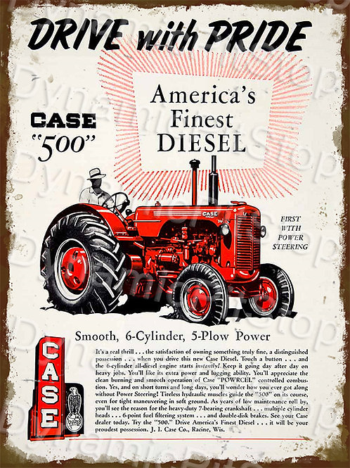 30x40cm Case 500 Tractor Rustic Decal or Tin Sign