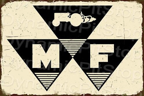 60x40cm Massey Ferguson Logo Rustic Decal or Tin Sign
