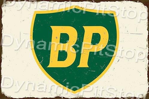 60x40cm BP Logo Rustic Decal or Tin Sign