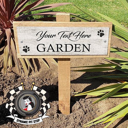 Custom Garden Sign - Paw Prints