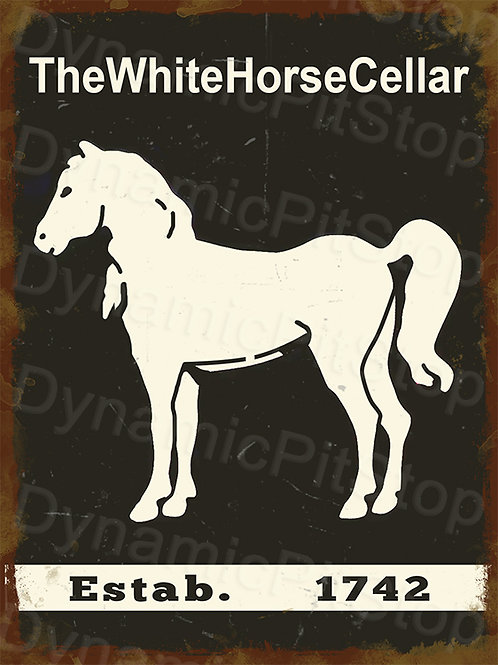 30x40cm White Horse Scotch Whiskey Rustic Decal or Tin Sign