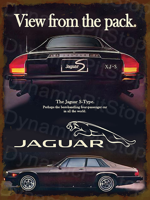 30x40cm Jaguar SJ-X S Type Rustic Decal or Tin Sign
