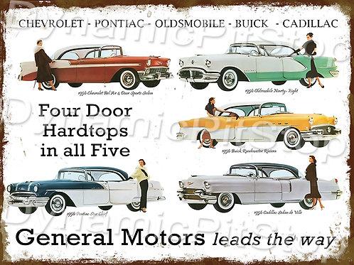 40x30cm General Motors 1956 Rustic Decal or Tin Sign