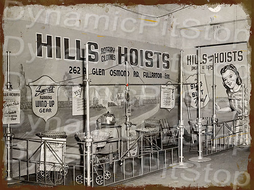 40x30cm Hills Hoists Rustic Decal or Tin Sign