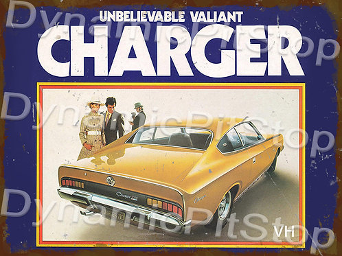 40x30cm Valiant 1971 VH Charger Rustic Decal or Tin Sign