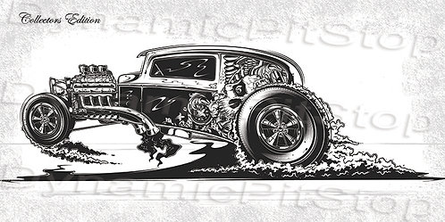 60x30cm Hot Rod Collectors Edition #2 Decal or Tin Sign