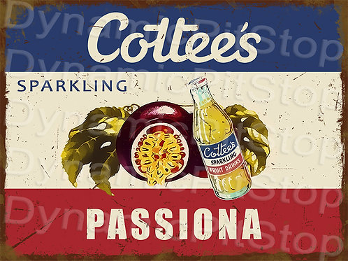 40x30cm Cottees Passiona Rustic Decal or Tin Sign