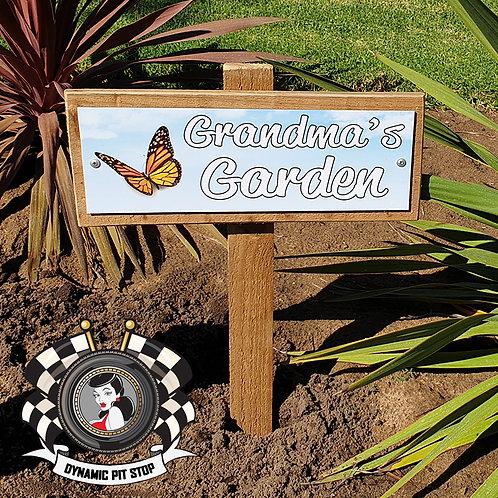 Grandma's Garden Sign - Butterfly