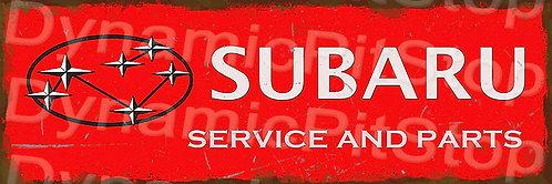 60x20cm Subaru Service Rustic Decal or Tin Sign