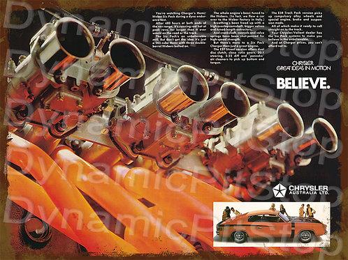 40x30cm Chrysler Motor Rustic Decal or Tin Sign