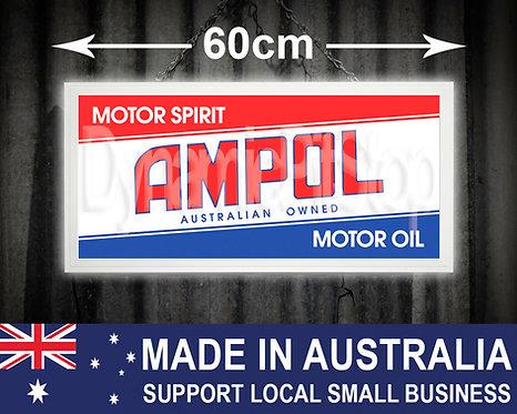 Illuminated Ampol Sign