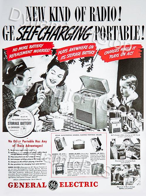 30x40cm GE Radio Decal or Tin Sign